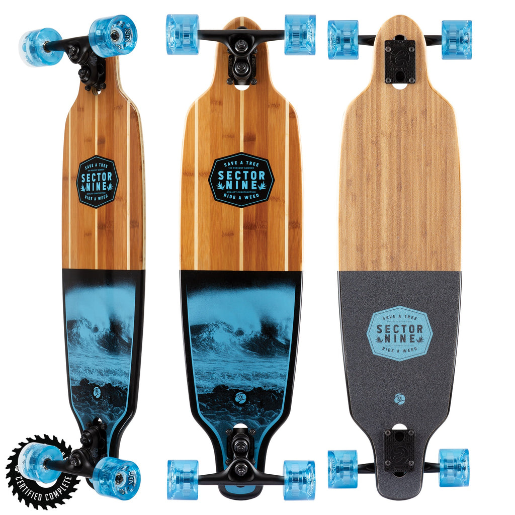 Sector 9 Bico Shoots Longboard Cruiser Complete w/ Sidewinders