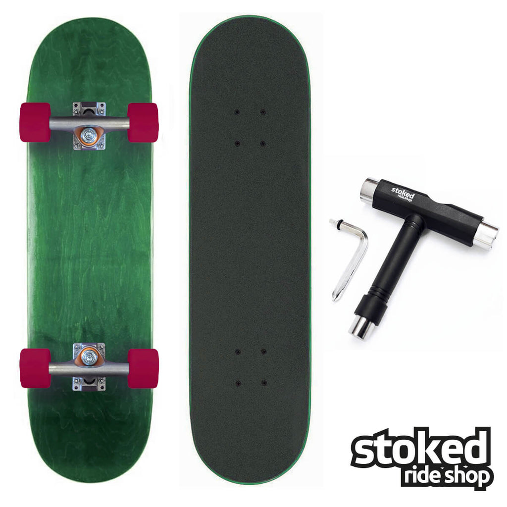 Stoked Ride Shop Green Stain Blank Complete, Cruiser Build