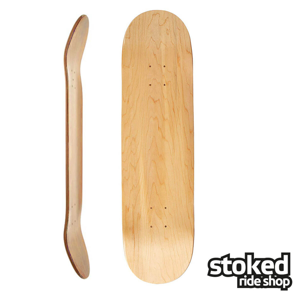 "Stoked Ride Shop Blank Deck, Natural, 7.75"" / 8.0"""