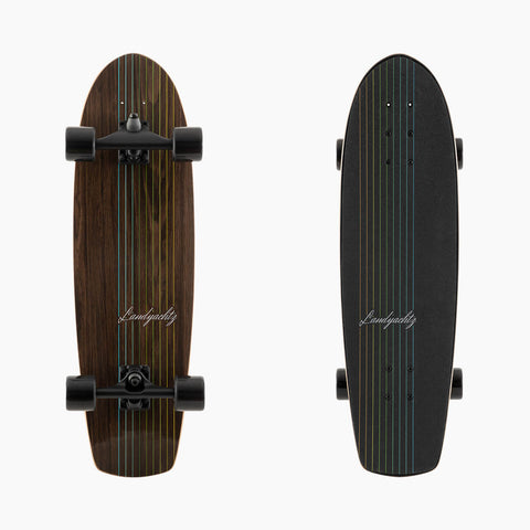 Surf Skate Series Skateboard, Butter Walnut Complete