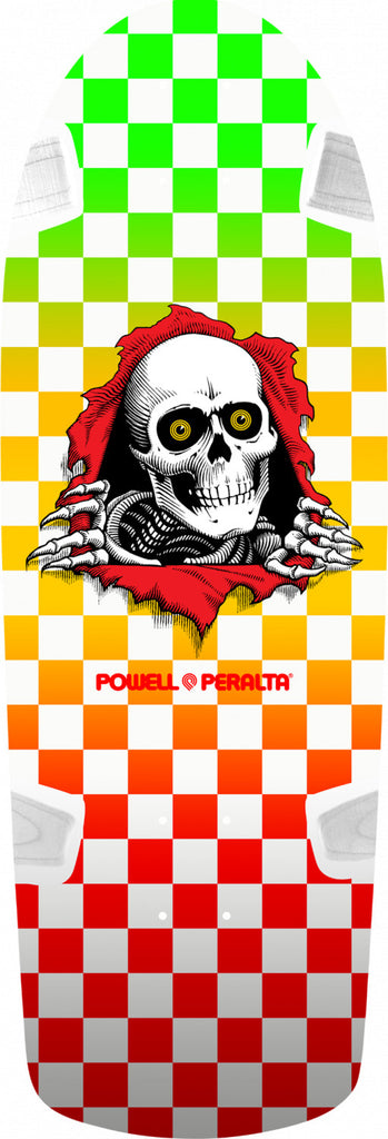 Powell-Peralta OG Ripper Skateboard Deck, Checker Multi Color, 10.0""