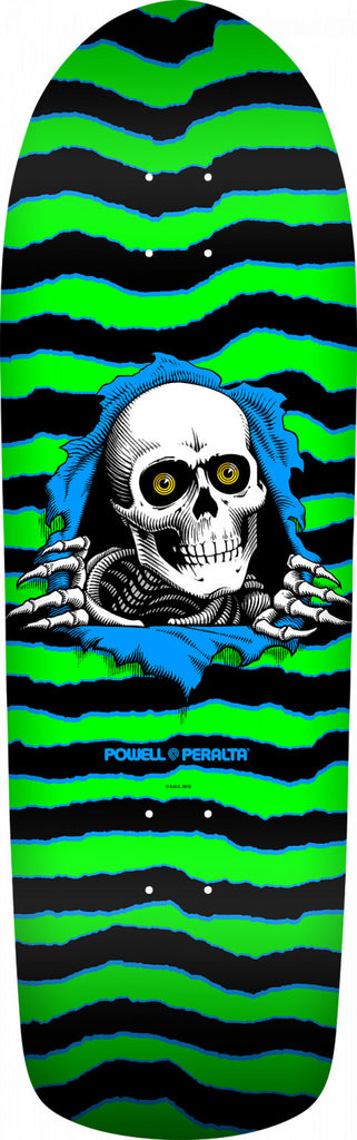 Powell-Peralta OG Old School Ripper Skateboard Deck, Green/Black, 10.0""