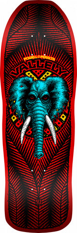 Powell-Peralta Vallely Elephant 05 Fire Skateboard Deck, Red, Shape 163, 9.85""