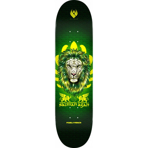 Powell-Peralta Salman Pro Flight Agah Lion Skateboard Deck, Shape 249, 8.0""