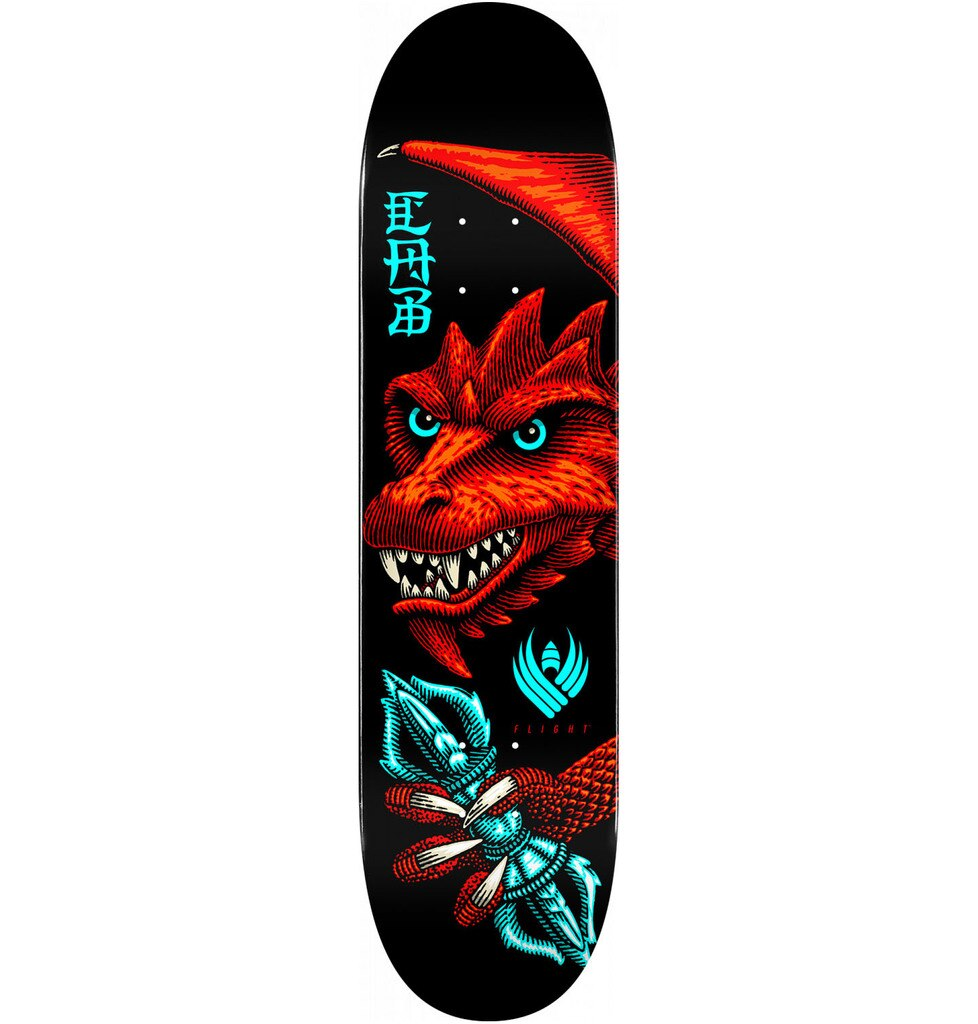 Powell-Peralta Flight Caballero Dragon Wing Skateboard Deck, Shape 243 8.25""