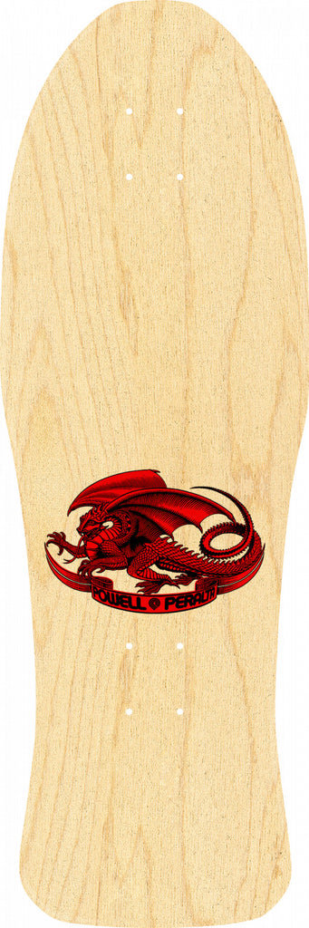 "Powell-Peralta Steve Caballero Chinese Dragon Skateboard, Fire Red, Shape 150, 10.0"" LIMIT 1 PER CUSTOMER"