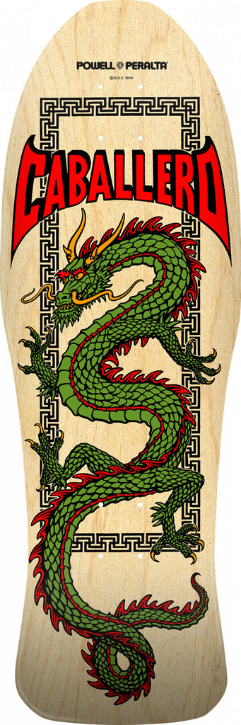 "Powell-Peralta Steve Caballero Chinese Dragon Skateboard, Natural, Shape 150, 10.0"" LIMIT 2 PER CUSTOMER"