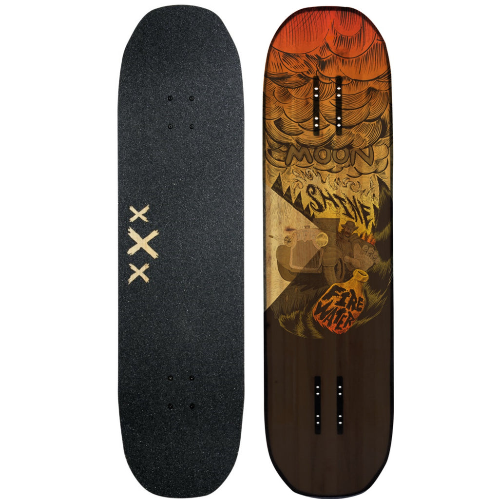 Moonshine Firewater Longboard Skateboard, Deck and Complete