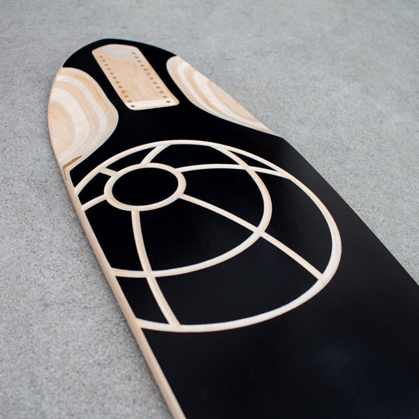 Chroma Skateboards Limited Edition Aurora Downhill Longboard Skateboard Front