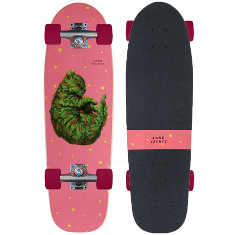 Landyachtz Dinghy Series Skateboard, Blunt Meowijuana Complete (Fireball Build)