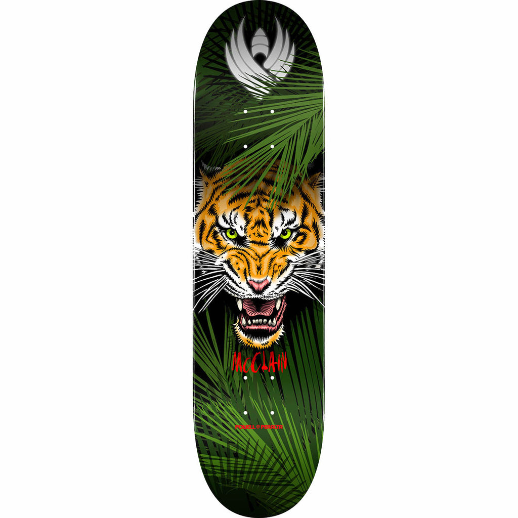 Powell-Peralta McClain Pro Flight Tiger Skateboard Deck, Shape 243, 8.25""
