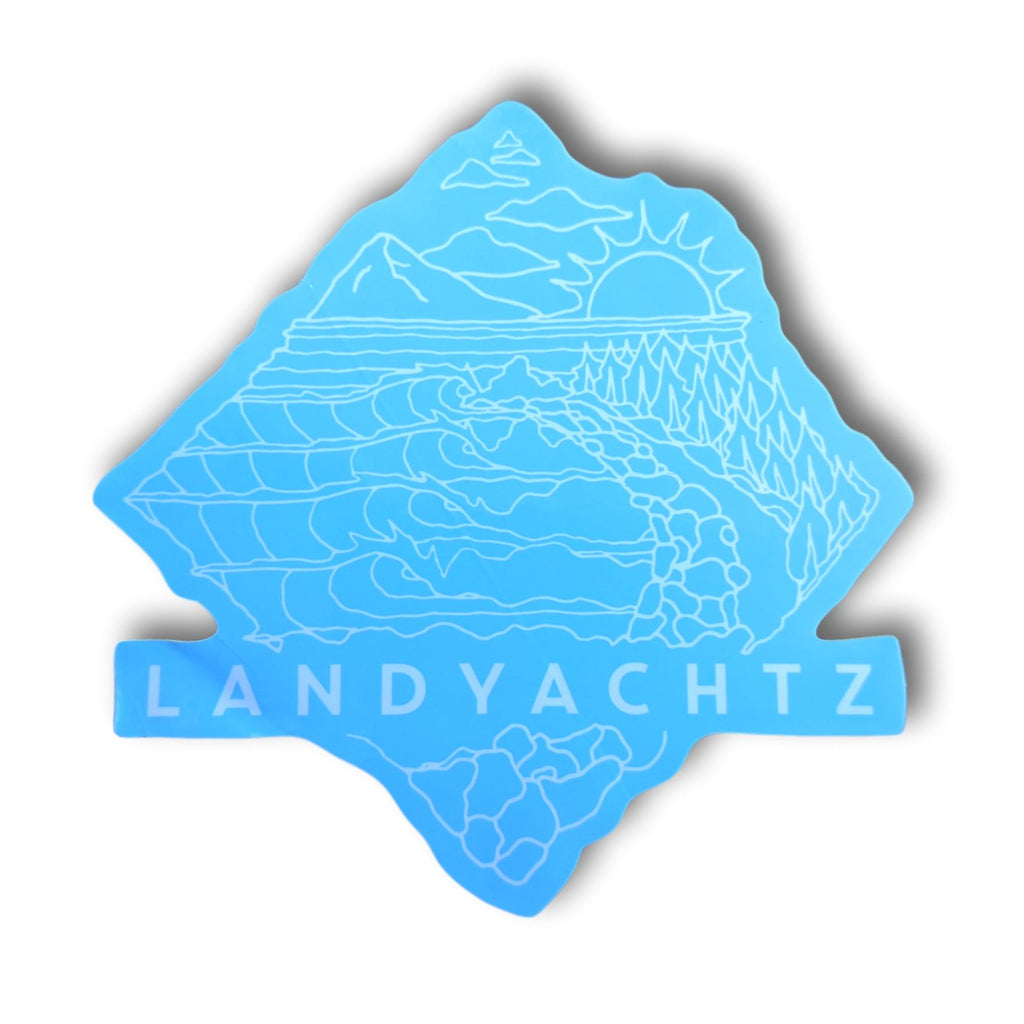 Landyachtz Blue Adventure Sticker