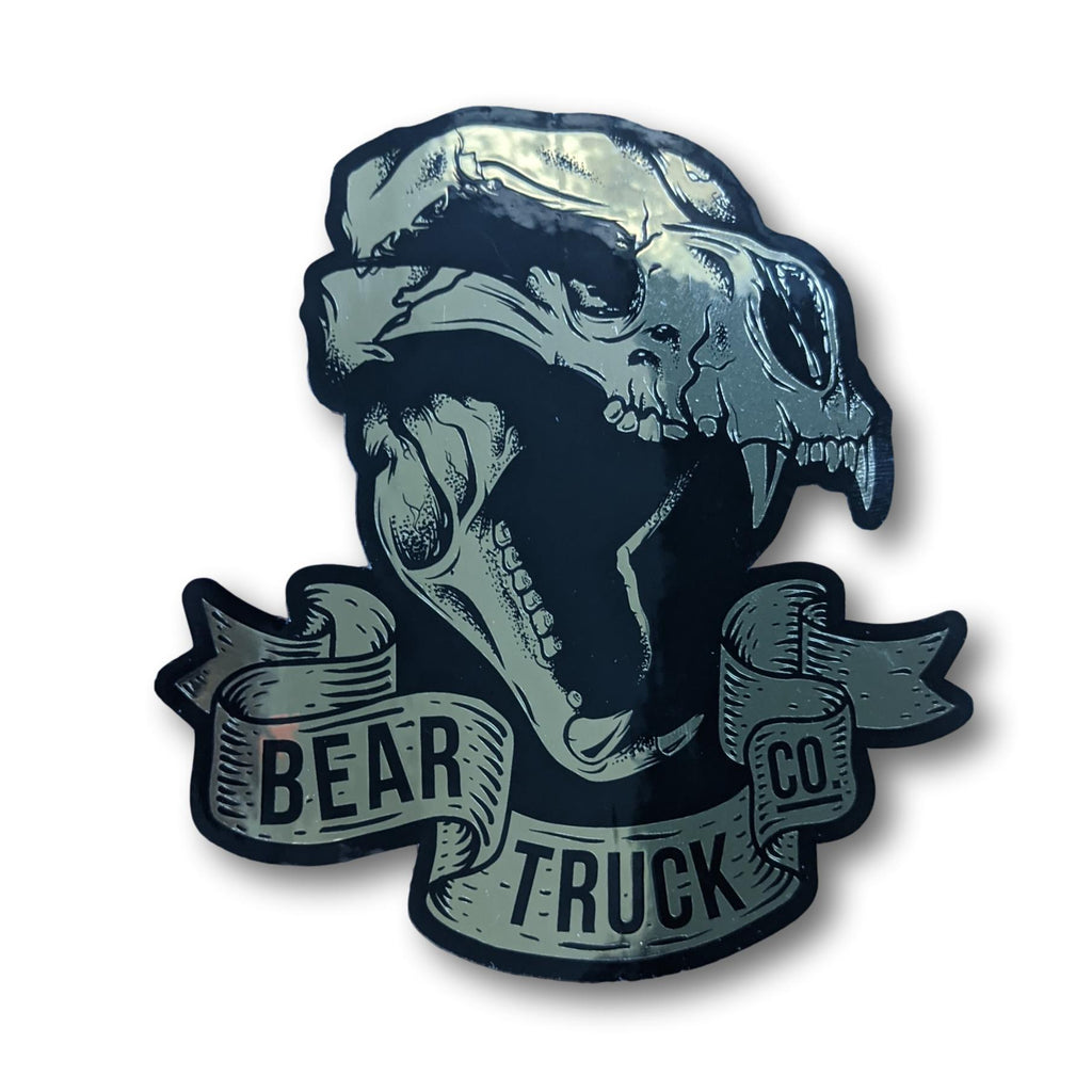 Landyachtz Bear Trucks Gold Skull Sticker