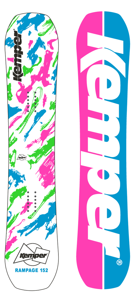 Park Snowboard - Kemper Rampage 1989/90 White by Kemper Snowboards