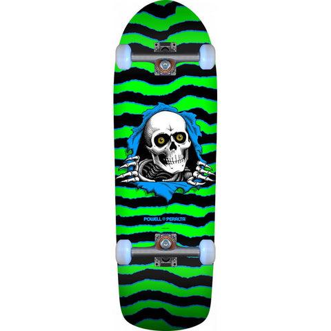 Powell-Peralta OG Old School Ripper Skateboard Complete, Green/Black, 10.0""