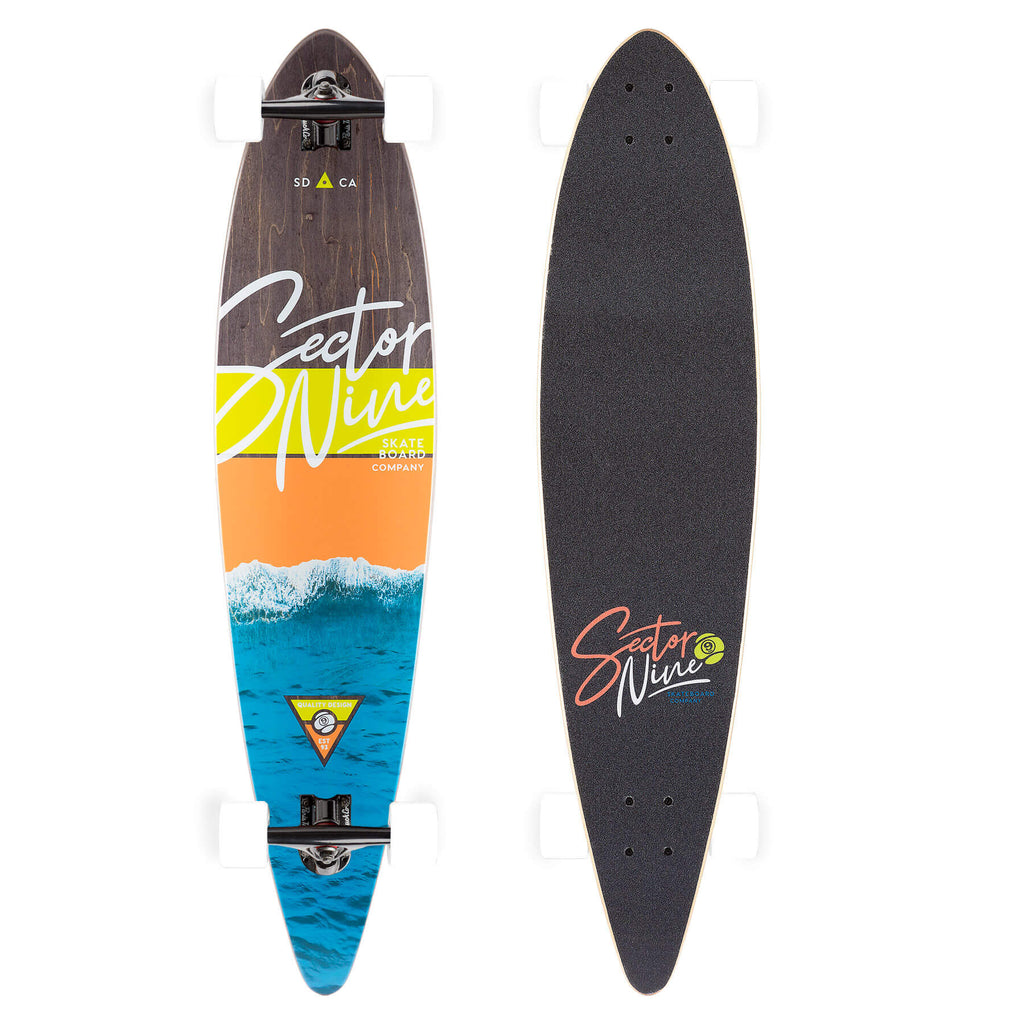 Sector 9 Shoreline Ledger Longboard Complete, Paris Jet Black