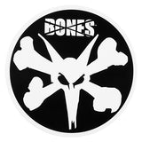 "Bones Wheels Round Rat Bones 6"" Sticker"