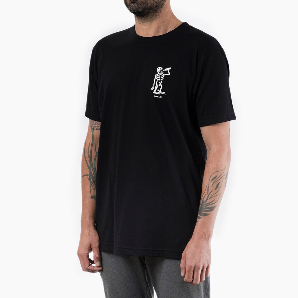 Landyachtz T-Shirt Thirsty Skeleton, Black