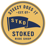 Stoked Ride Shop Steezy Does It Flag Sticker