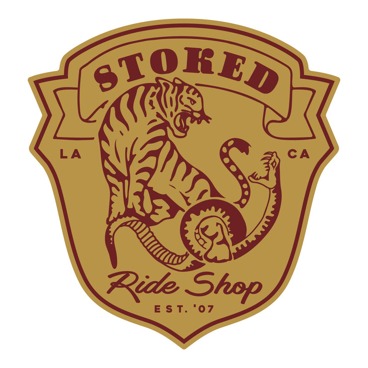 Stoked Snake vs. Tiger Sticker