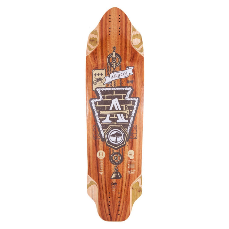 Arbor Highground Longboard, Deck and Complete