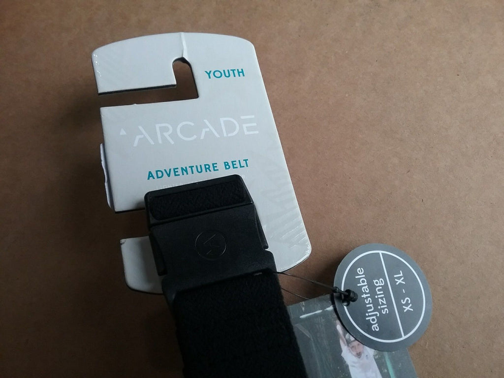 Arcade Adventure Belt Midnighter, Youth, Black, Adjustable Sizing