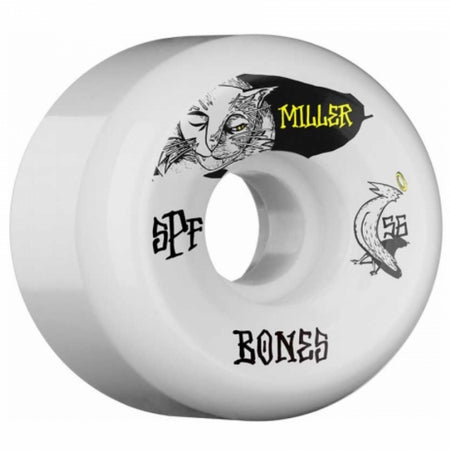 Bones Chris Miller Pro SPF Guilty Cat Skateboard Wheels, 56mm 84b