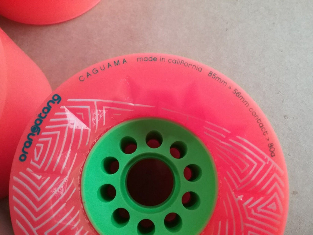 Orangatang Caguama Orange 80A 85mm Used Other Longboard Skateboard Eboard Wheels