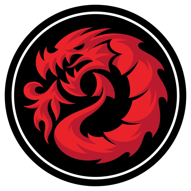 "Fireball Dragon Round Sticker 4"" (10.1cm)"
