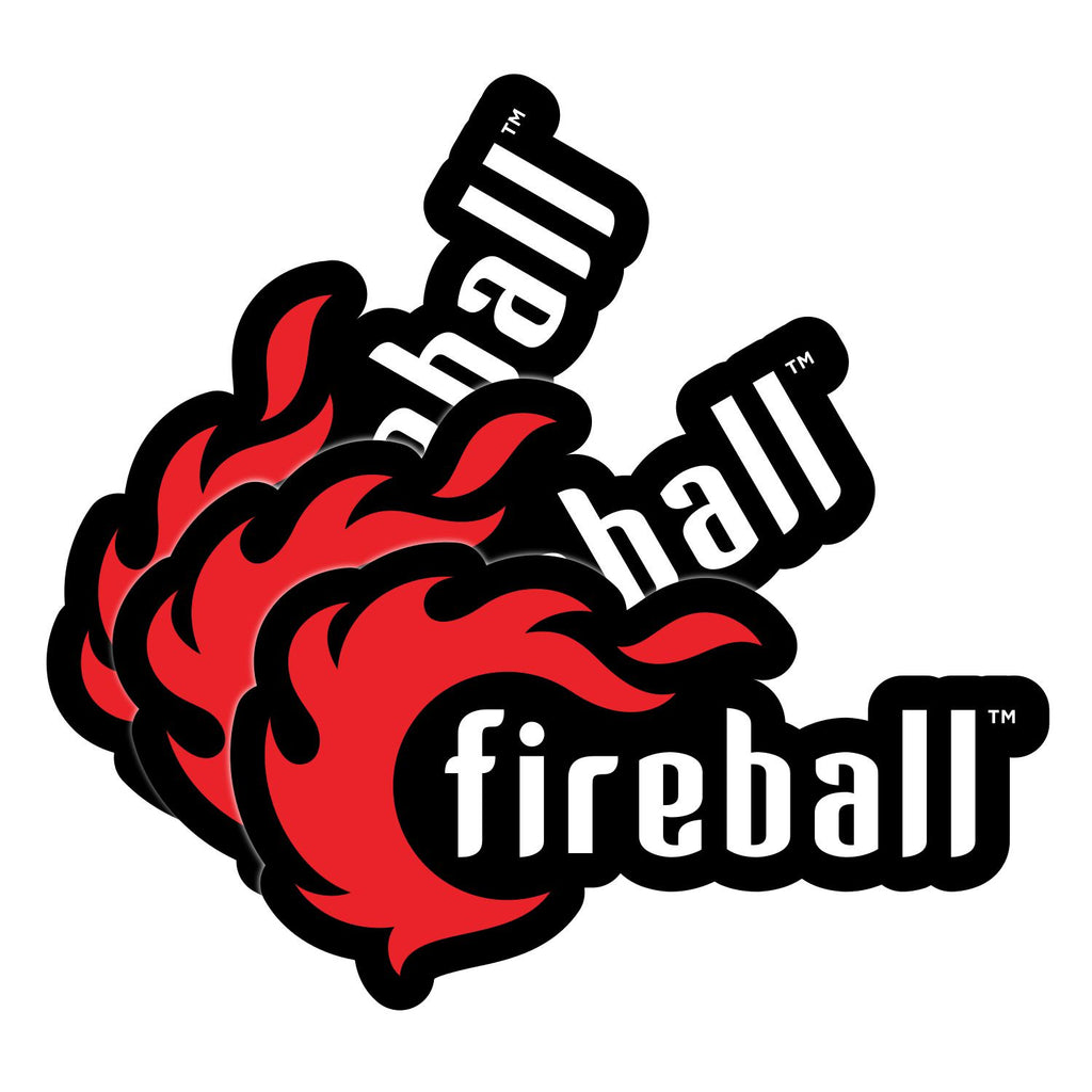 "Fireball Logo Cut Out Stickers 3.75"" (9.6 cm) - 3 Stickers"