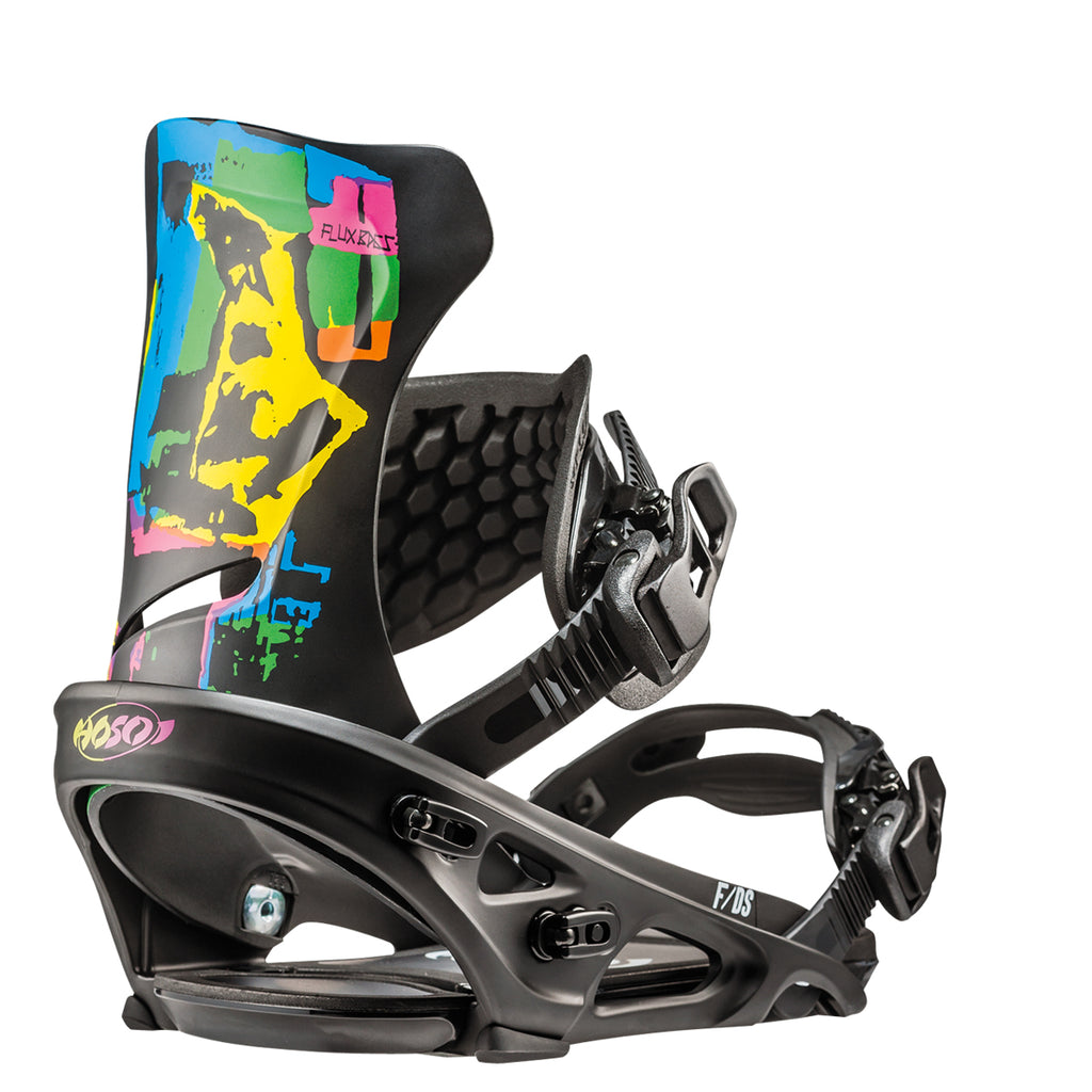 Flux Snowboard Bindings, Flat Rocker Series, DS (2019