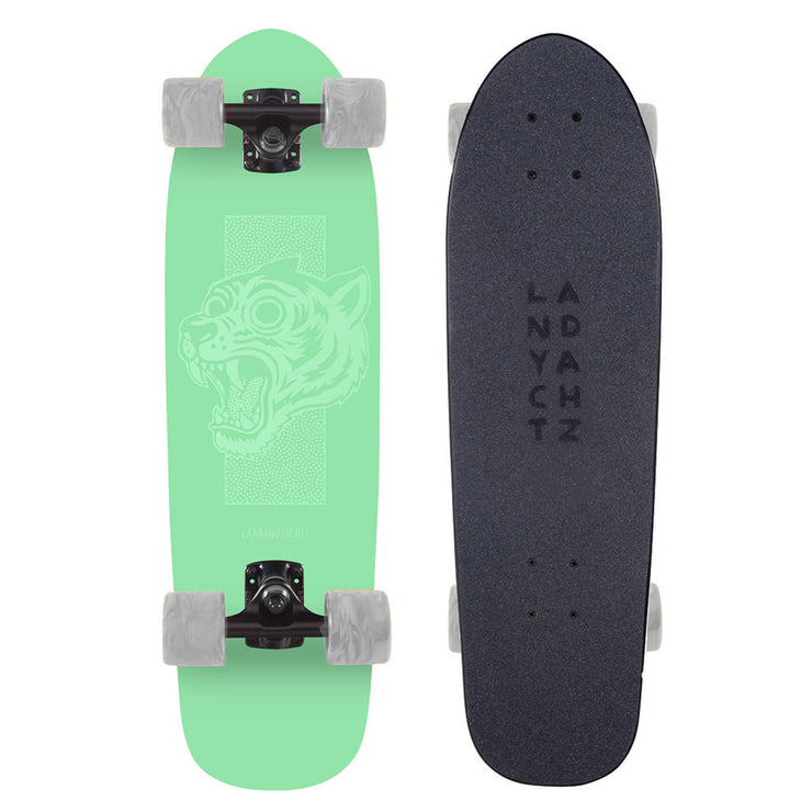 Landyachtz Dinghy Series Skateboard, Green Tiger Complete