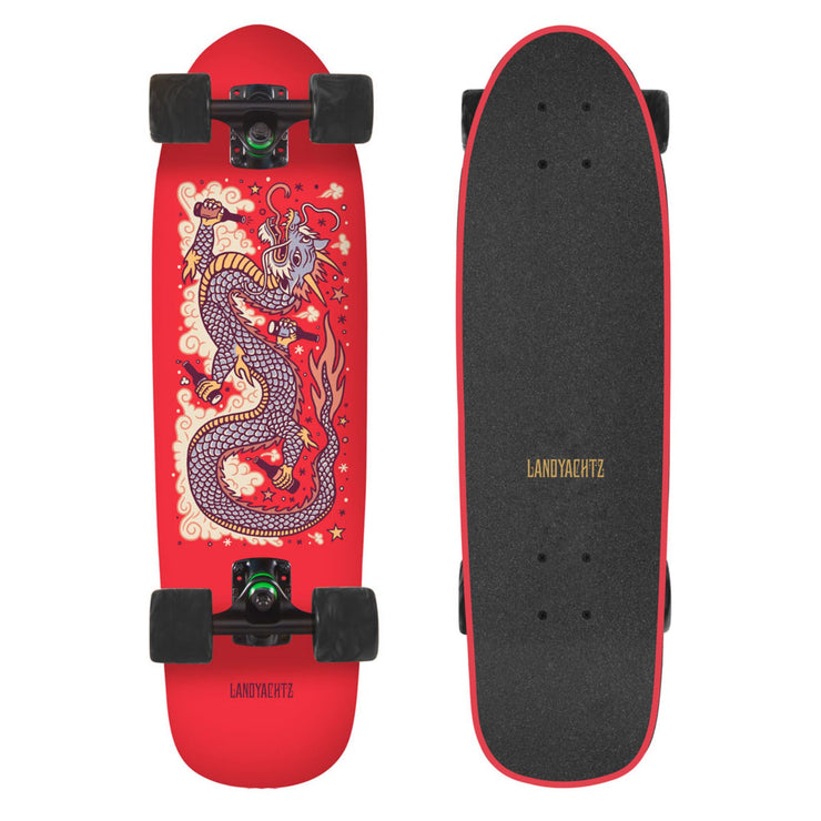 Landyachtz Dinghy Series Skateboard, Dragon Red Complete