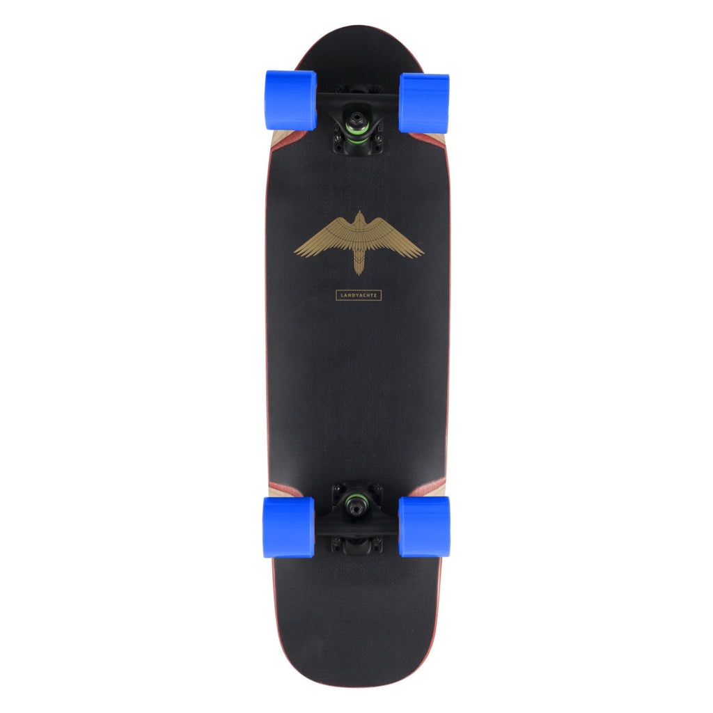 Landyachtz Dinghy Series Skateboard, Turbo Complete with Blue Wheels