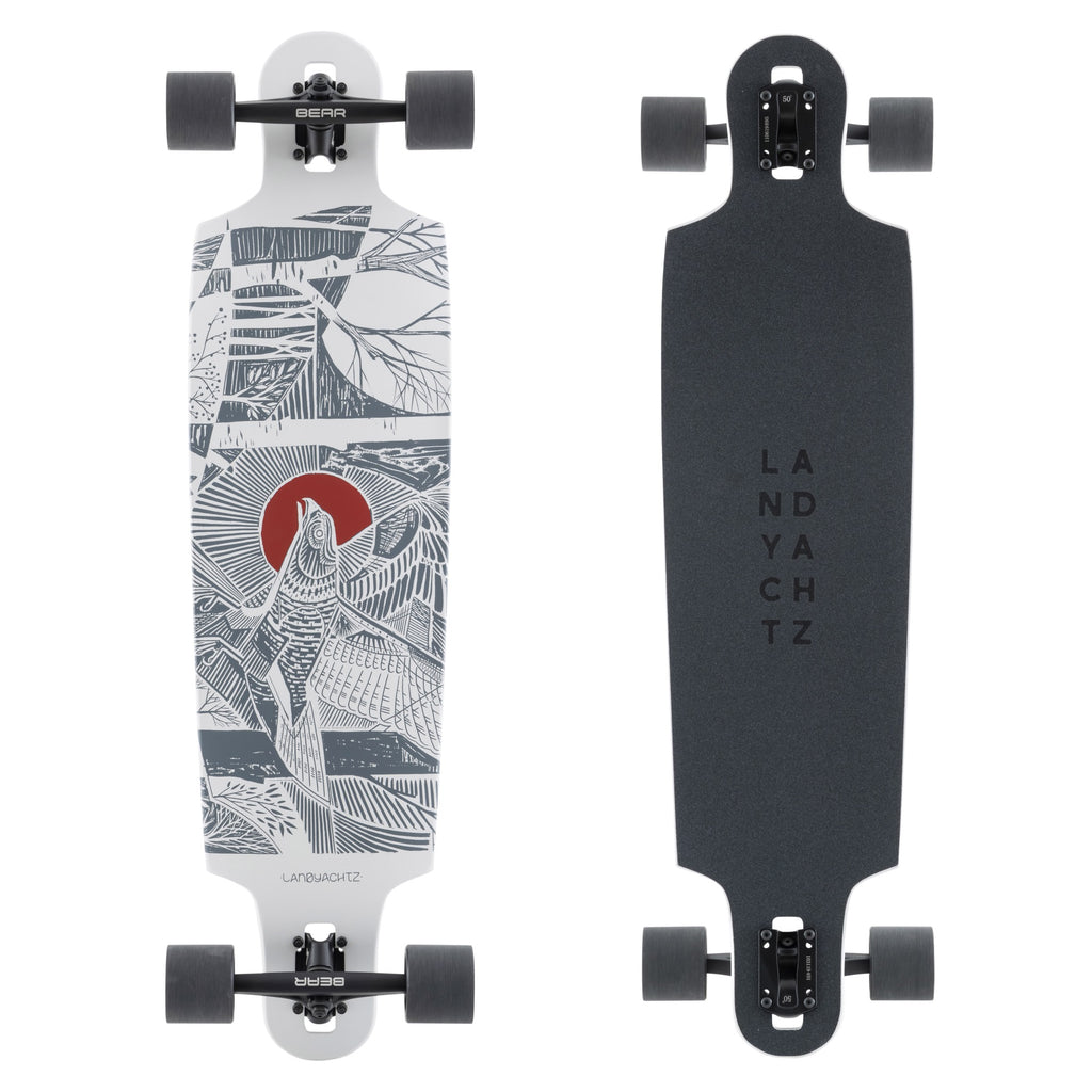 Landyachtz Drop Cat 38 Longboard Skateboard, Seeker