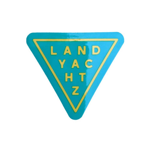 Landyachtz Teal Triangle Sticker