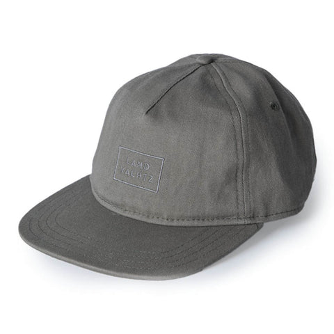 Landyachtz Rectangle Logo Hat, Olive Gray