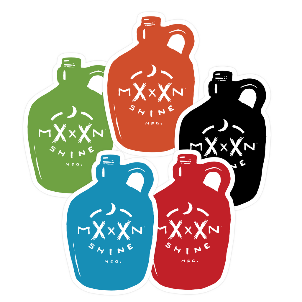 Moonshine Jug Stickers, Assorted Colors