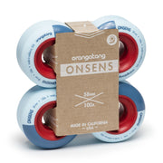 Orangatang Onsen Skateboard Wheels, 58mm (100a Hard Wheels)