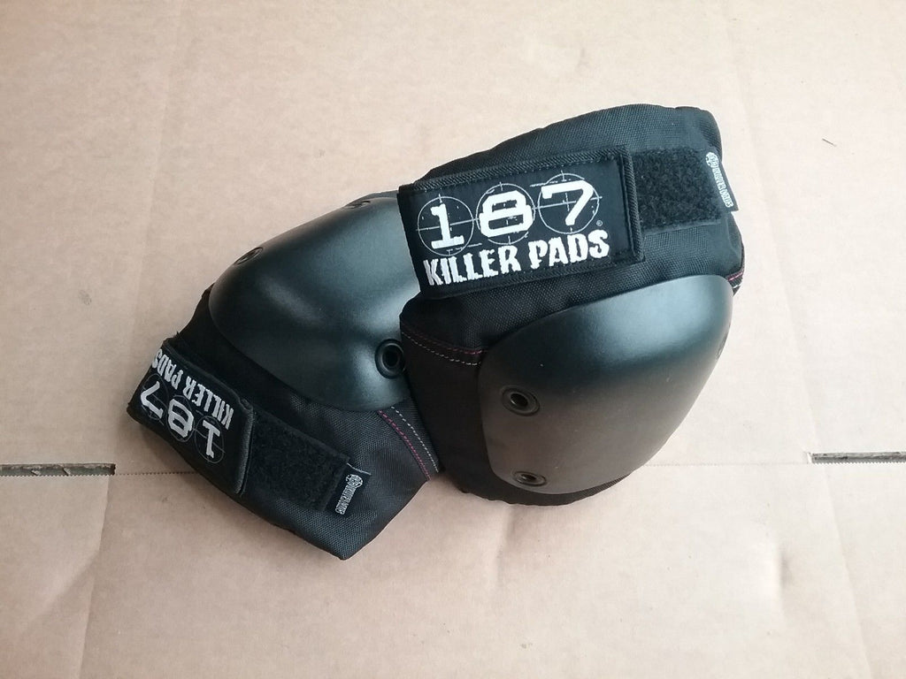 187 Killer Fly Knee Pads Large Black Longboard Skateboards