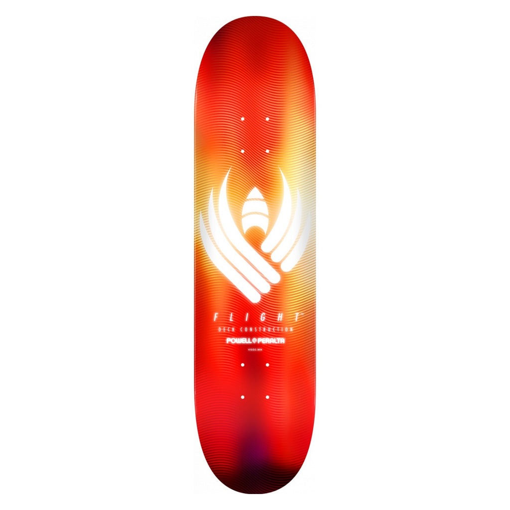 Powell-Peralta Flight Skateboard Deck, Glow Red, Shape 242, 8.0""