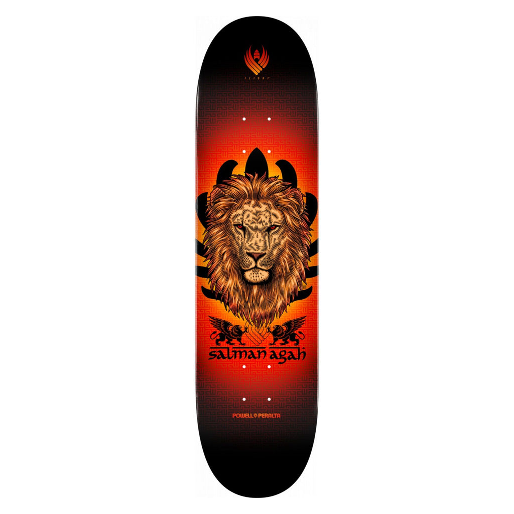 Powell-Peralta Flight Skateboard Deck, Salman Agah Lion, Shape 242, 8.0""