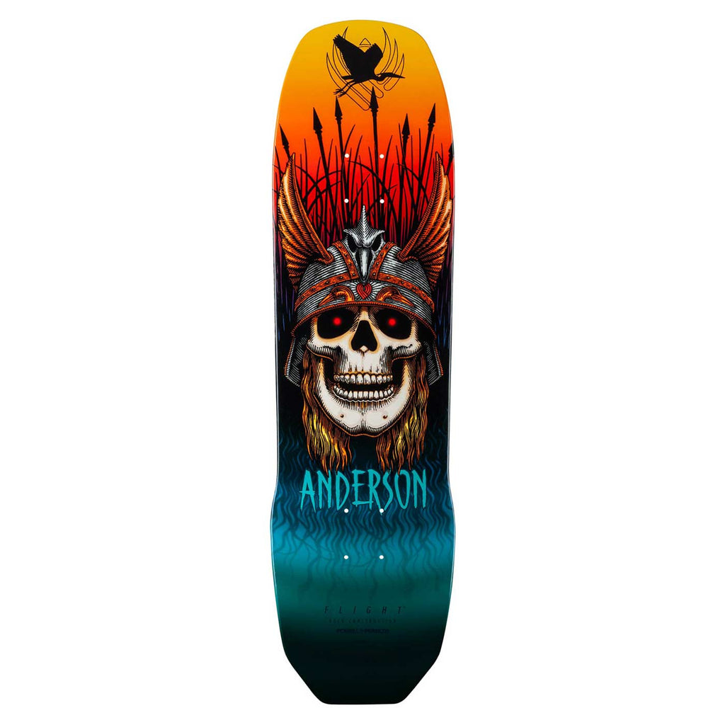 "Powell-Peralta Flight Andy Anderson Crane Skull Pro Skateboard Deck, 8.45"" & 9.13"""