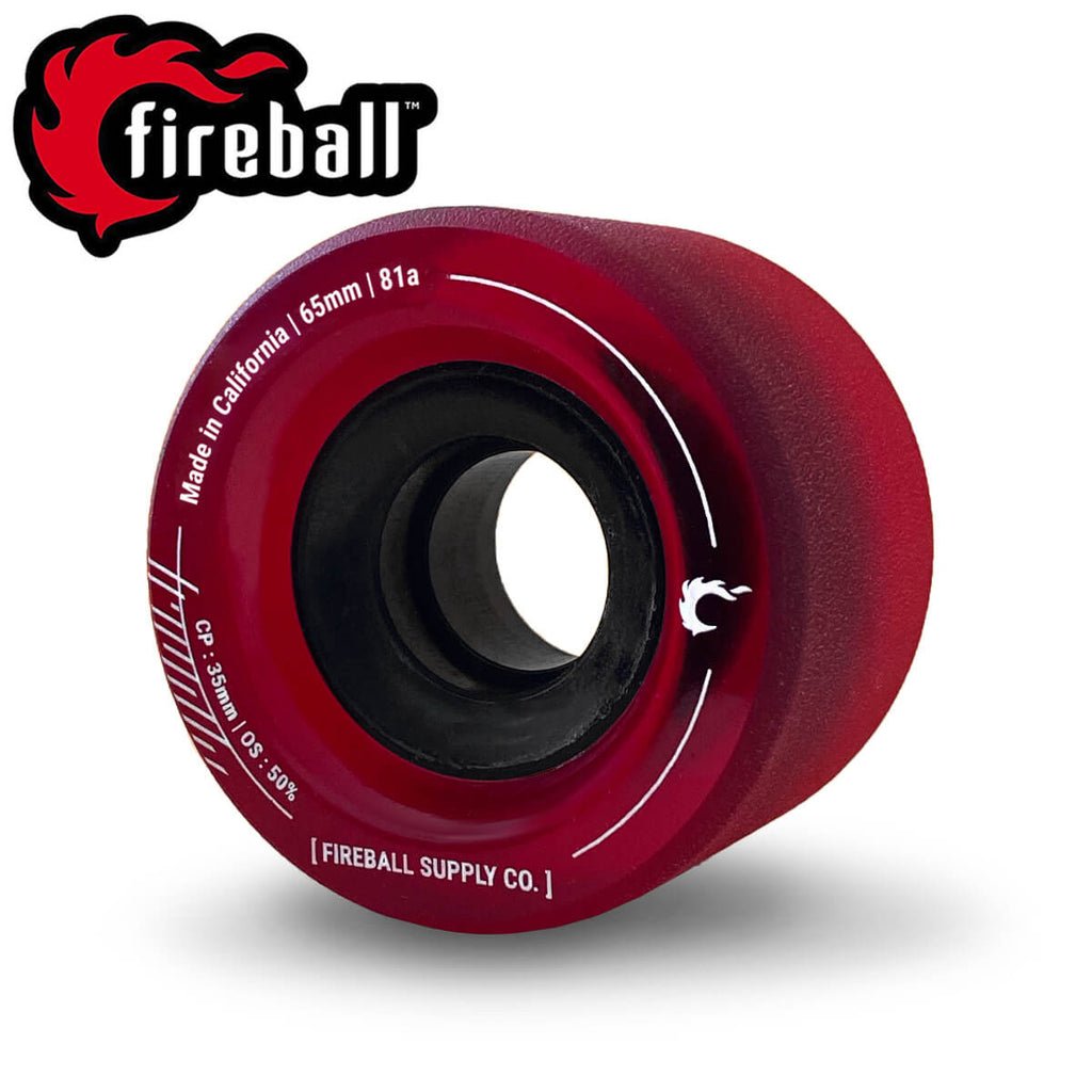 Fireball Tinder 65mm 81a Wheel Set, Red