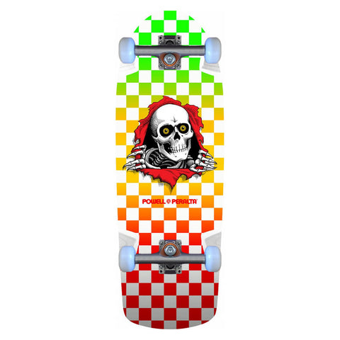 Powell-Peralta OG Ripper Skateboard Complete, Checker Multi Color, 10.0""