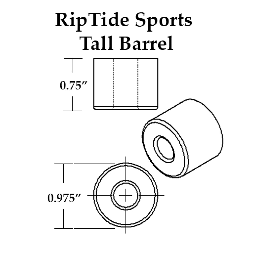 RipTide APS Skateboard Bushings (Tall Barrel)