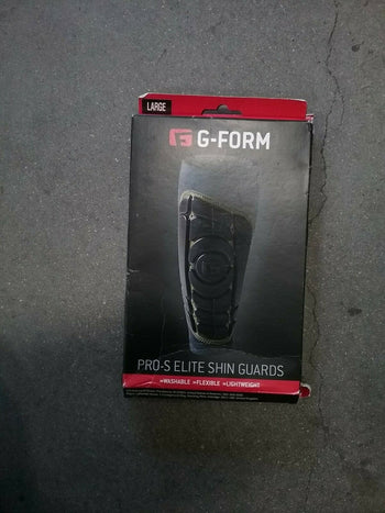 G-Form Pro-S Elite Shin Guard, Black/Yellow, Large - Open Package