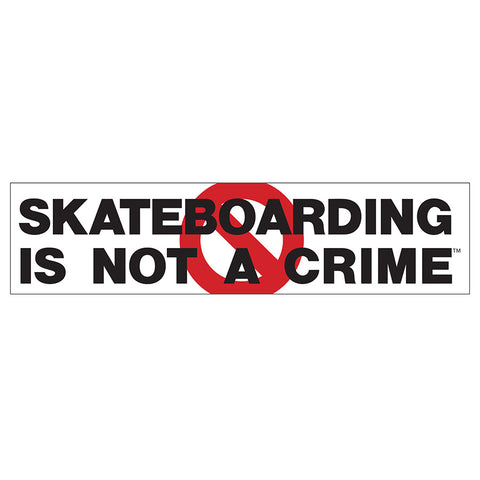 Skateboarding is Not a Crime Sticker, 10.0""