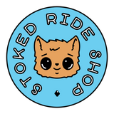 Stoked Ride Shop Sticker, Cute Kitty