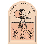 Stoked Ride Shop Sticker, Hula Chick